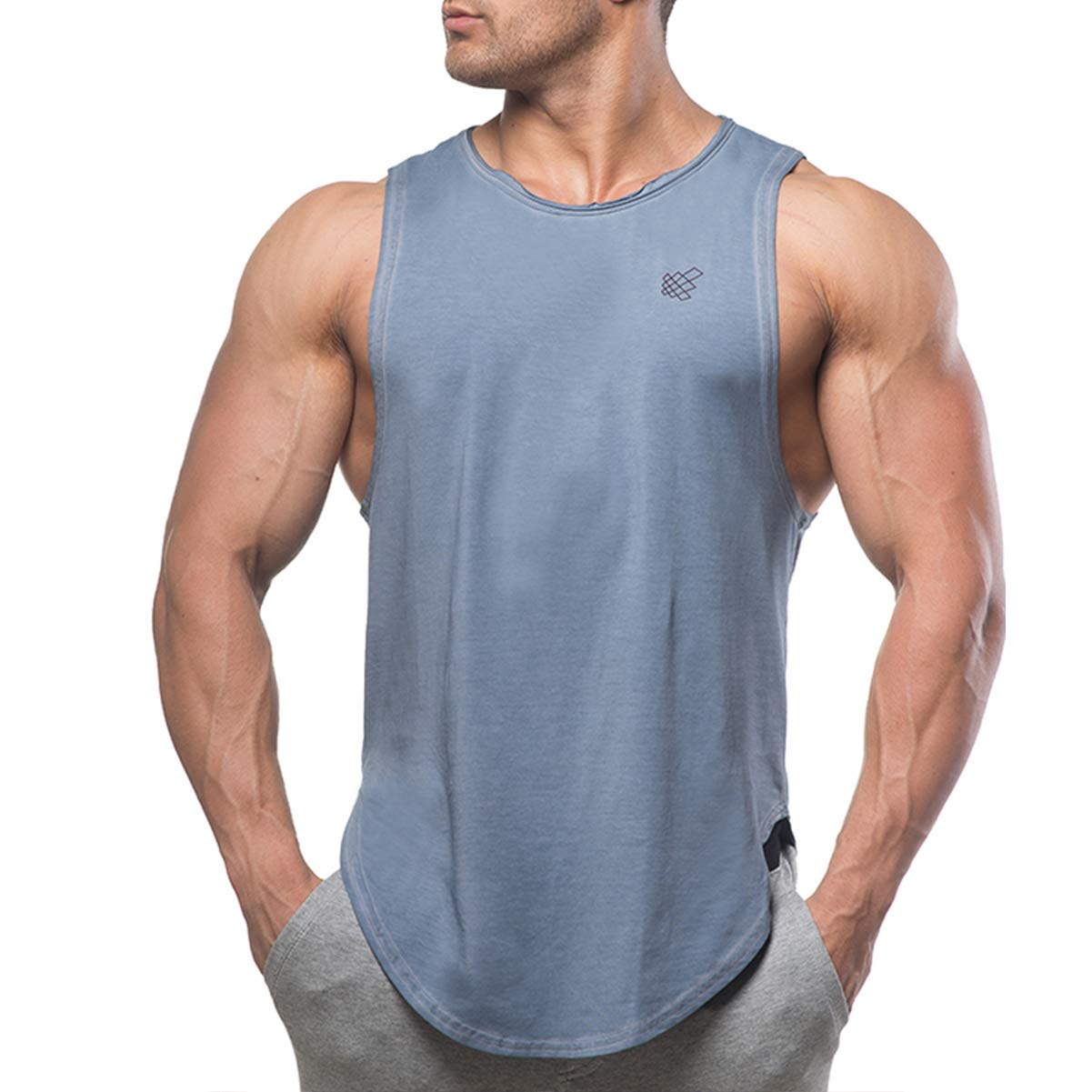 Jed North Muscle Cut Stringer Workout T-Shirt Muscle Tee Bodybuilding Tank Top