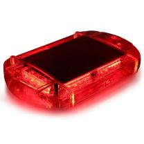 Xprite 40 LED High Intensity Law Enforcement Emergency Hazard Warning Flashing Car Truck Construction LED Roof Top Mini Bar Strobe Light with Magnetic Base (Red)