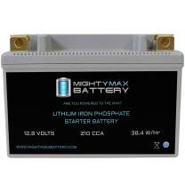Mighty Max Battery YTX9-BS Lithium Battery Replaces Piaggio Vespa 125 ET4 2000-2004 Brand Product