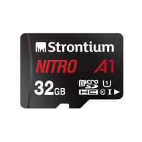 Strontium Nitro 32GB Micro SDHC Memory Card 100MB/s A1 UHS-I U1 Class 10 w/ Adapter High Speed For Smartphones Tablets Drones Action Cams (SRN32GTFU1A1A)