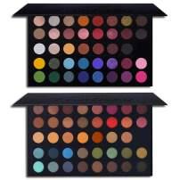 39 Colors High Pigmented Shimmer Matte Eyeshadow Makeup Palette Set Full Spectrum Artist Waterproof Creamy Blendable Eye Shadow Cosmetics Kit (1 Set)