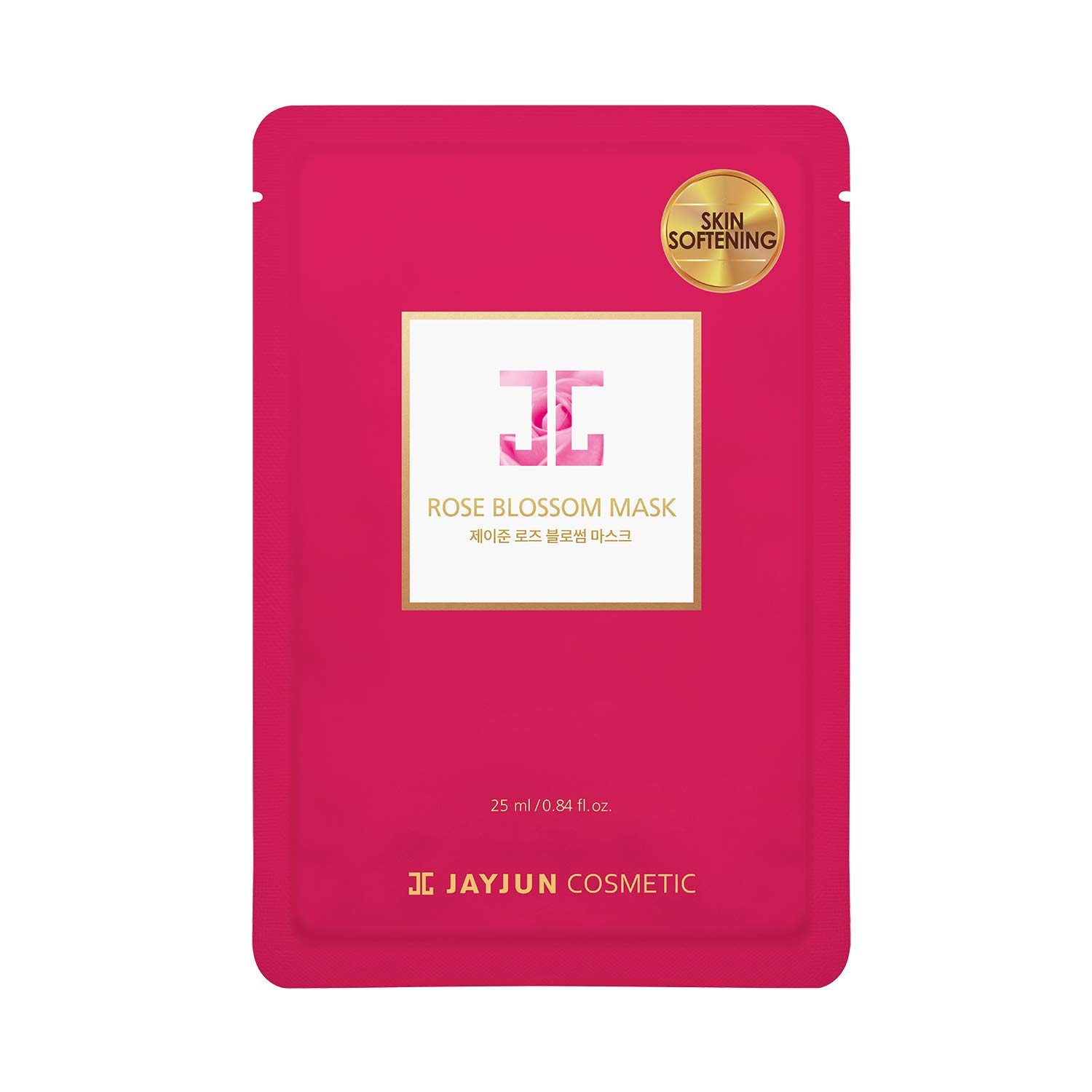 JAYJUN Rose Blossom Mask,Pack of 10 Sheets, 0.84 fl. oz,25ml, Rose, Hydrating, Brightening