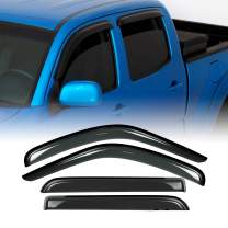 Deebior 4pcs Compatible With 2016-2019 Toyota Tacoma Crew Cab (Double Cab) Sun Rain Guard Vent Shade Side Window Wind Deflectors Window Visors