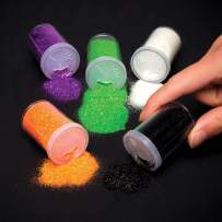 Baker Ross Halloween Glitter Shakers   Decorate Artwork   Kids Fun Arts & Crafts Project   Pack of 5 Containers