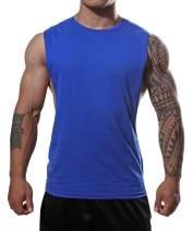 Manstore Men's Muscle Fitness Gym Stringer Tank Tops Bodybuilding Sleeveless Shirts