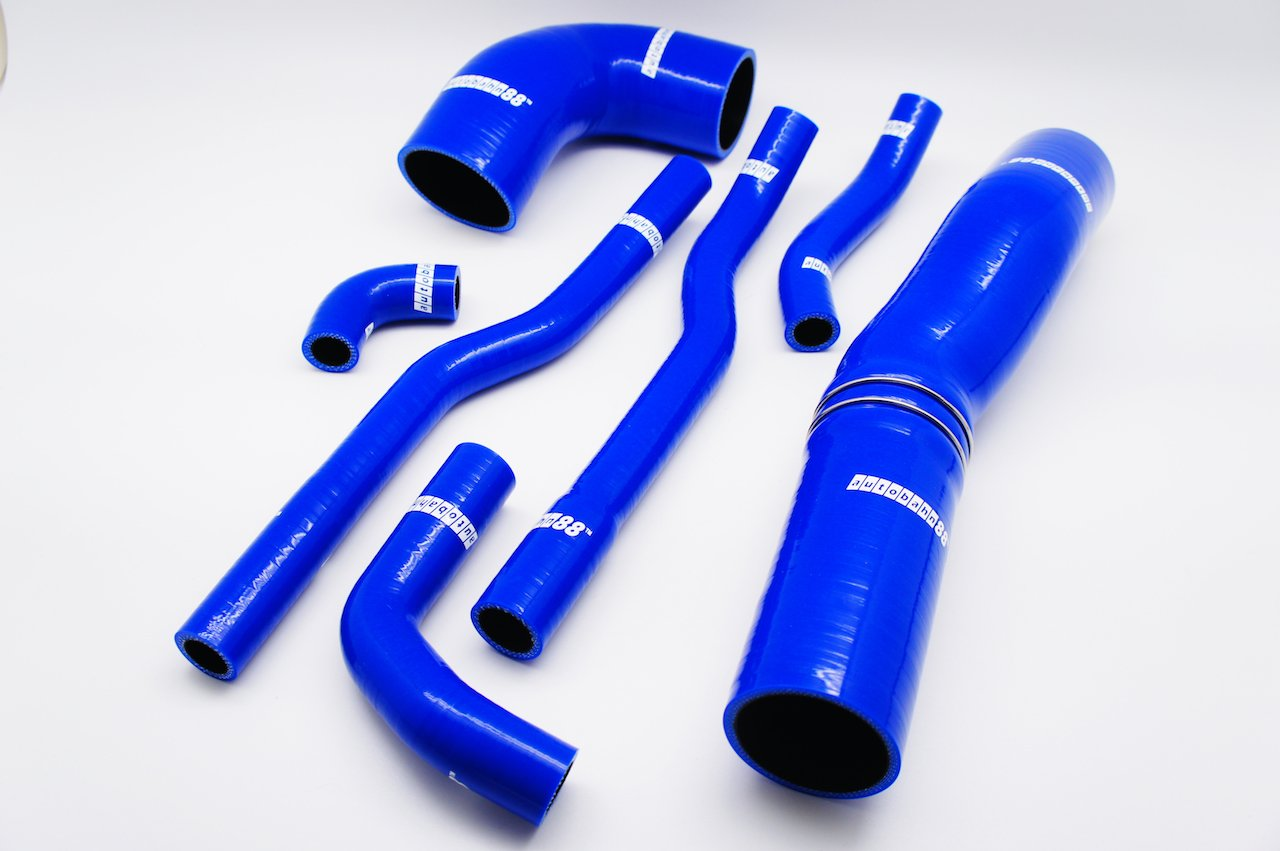 Autobahn88 Air Intake Suction Silicone Hose Kit fits for Mazda RX7 RX-7 FD3S 13B-REW 1991-2002 (Blue -without Clamp Set)