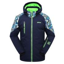 PHIBEE Big Boys' Waterproof Breathable Outdoor Warm Snowboard Ski Jacket