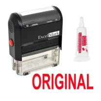 Original Self Inking Rubber Stamp - Red Ink (Stamp Plus 5cc Refill Ink)