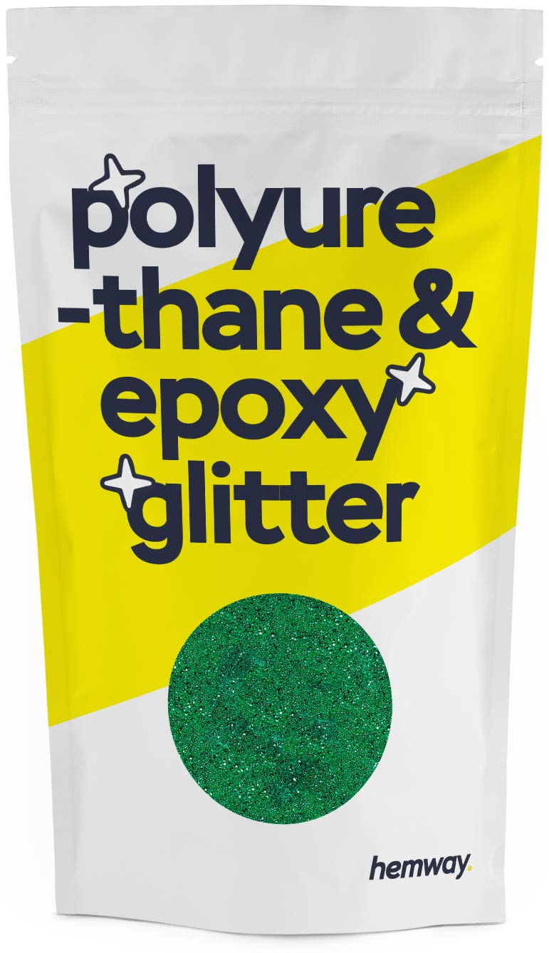 Hemway Metallic Glitter Floor Crystals for Epoxy Resin Flooring (500g) Domestic, Commercial, Industrial - Garage, Basement - Can be Used with Internal & External (Emerald Green)