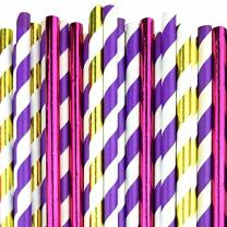 "Just Artifacts Decorative Party Paper Straws""Fairytale"" 75pcs Kit"