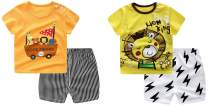 Baby T-Shirt Newborn Infant Baby Boy's Short-Sleeve Short Set Toddlers Kids Cartoon Tees Pant Sets 0-4T 2 -Set