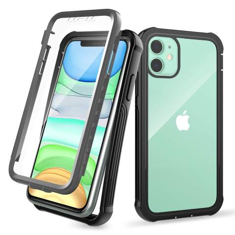 Denfany iPhone 11 Case with Screen Protector Heavy Duty Shockproof Scratch Resistant with All-Round Protection for iPhone 11 6.1 inch
