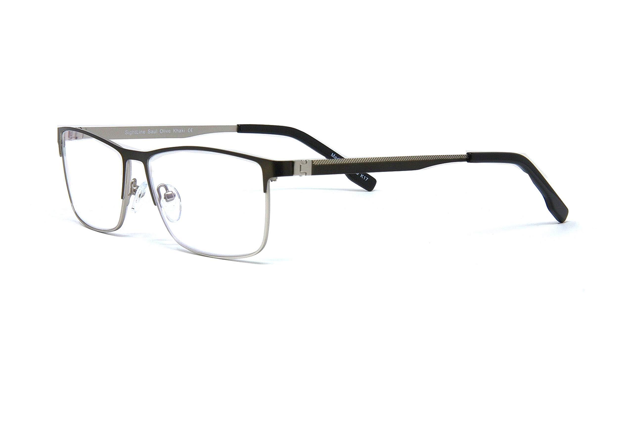 Sightline Saul Progressive Multi Focus Reading Glasses - Premium Quality Frame Handsome Contemporary Fashion