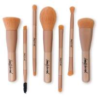 Beauty For Real Cruelty-Free Makeup Brushes Set, Matte Pink, 7 piece set, 4.5 oz