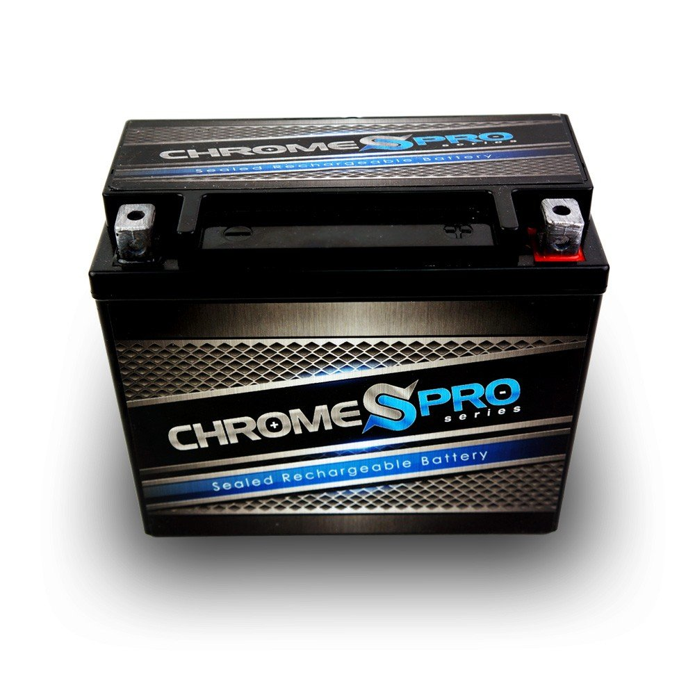 Rechargeable - YTX20L-BS High Performance Power Sports Battery - Replacement Motorcycle Battery - Chrome Pro Battery