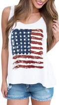 For G and PL Women's American Flag July 4th Tank Top Shirts