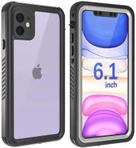 Justcool Designed for iPhone 11 Case, Clear Full Body Heavy Duty Protection with Built-in Screen Protector Shockproof Rugged Cover Designed for iPhone 11 6.1 inch (2019)