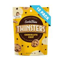 Thinsters Cookie Thins Chocolate Chip, Non GMO, Peanut Free, 4 Ounce, Pack of 12
