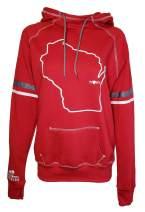 Orange Arrow Womens Wisconsin Home Hoodie - WI Stadium Midweight Sweatshirt by Hometown Hoodies