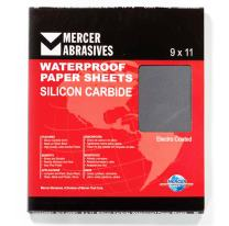 """Mercer Industries 220220C Grit 220 C-Weight 9"""" x 11"""" Silicon Carbide Waterproof Paper Sheets (50-Pack)"""