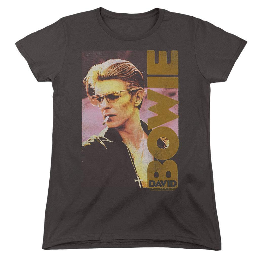 Popfunk David Bowie Smoking Retro Music Legend Women's T Shirt & Stickers