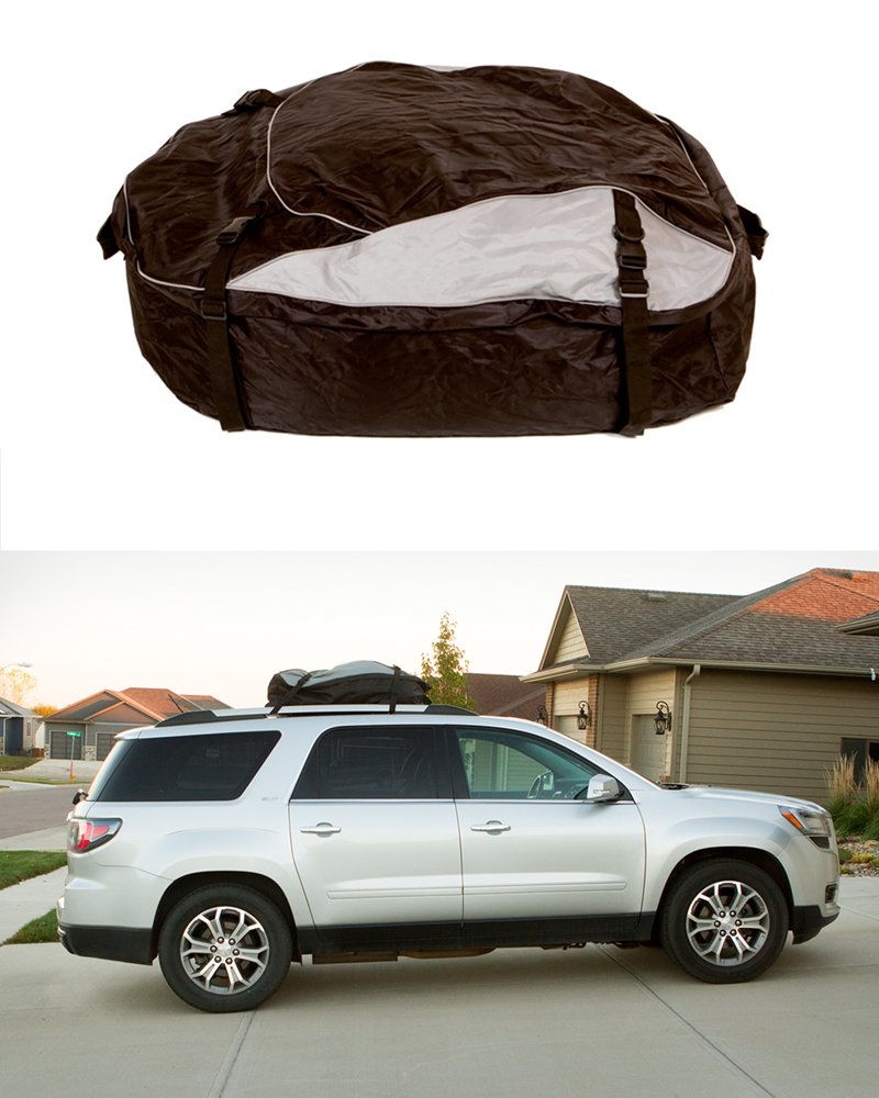 ABN Vehicle Roof Cargo Carrier Roof Bag – Extra-Large XL 12 Cubic Feet Car Rooftop Cargo Carrier Travel Luggage Bag