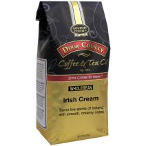 Door County Coffee, Irish Creme, Flavored Coffee, Medium Roast, Whole Bean Coffee, 10 oz Bag