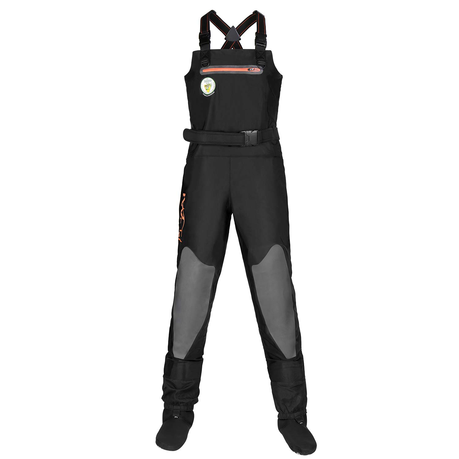 IWADER S1 Breathable Stockingfoot Chest Waders, Stretchable with Reinforced Knee for Women and Men
