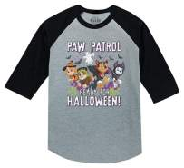 Paw Patrol Pups Ready for Halloween 3/4 Sleeve Baseball Jersey Toddler Shirt