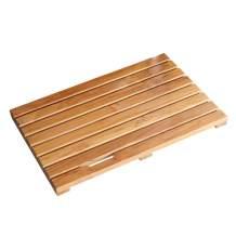 Facilehome Teak Bath Mat Non Slip Luxury Spa Solid Teak Bath Mat Indoor/Outdoor Shower Mat Large Floor Mat 23.6'' x 15.7'' x 1.4''