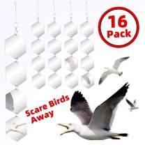 Bird Repellent Discs Set - Highly Reflective Dual Sided Bird Deterrent Discs - 16 PCS DIY Bird Hanging Reflective Discs Garden Reflectors Scare Birds Away Like Woodpeckers, Pigeons and Pest Bird