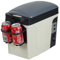 Smad Portable Thermoelectric Cooler and Wamer Car Travel Cooler, AC DC 12V, 6L