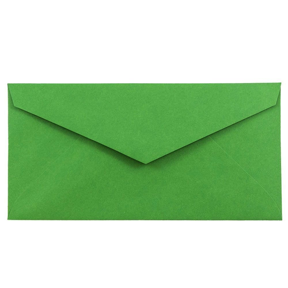 JAM PAPER Monarch Colored Envelopes - 3 7/8 x 7 1/2 - Green Recycled - 50/Pack