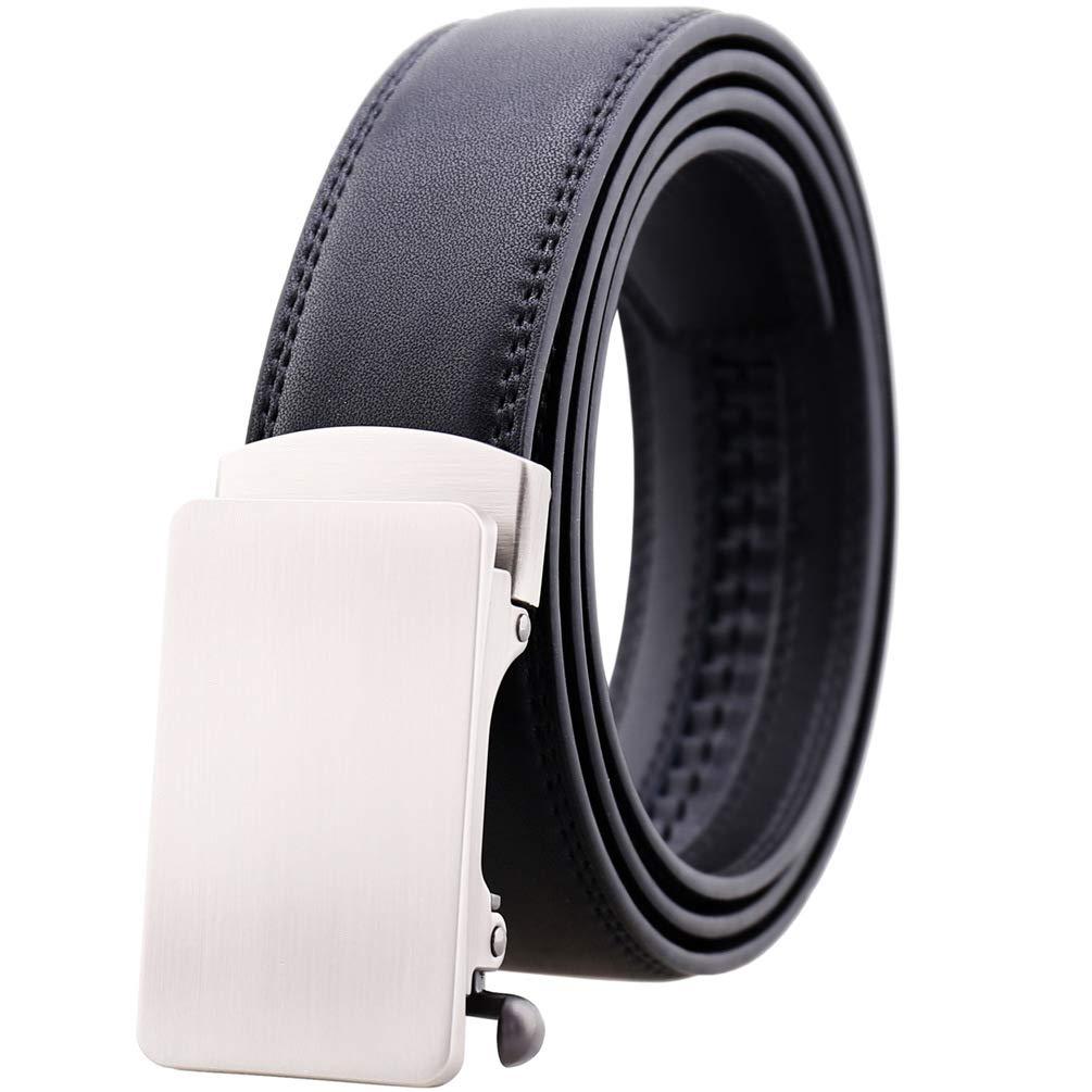 Go-Tan Men's Ratchet Dress Leather Belt Adjustable Belt for Men Trim To Fit