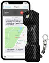Plegium Smart Pepper Spray 5-in-1 – Alerts Contacts with Free Location Texts & Phone Calls. Alarm, Strobe Lights, 4-yr Battery Life