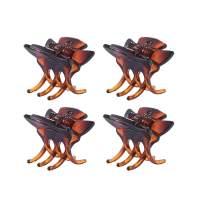 """EVITA PERONI Classic Shark Hair Claw Clip 4 Pcs, 1"""" x 0.9"""""""