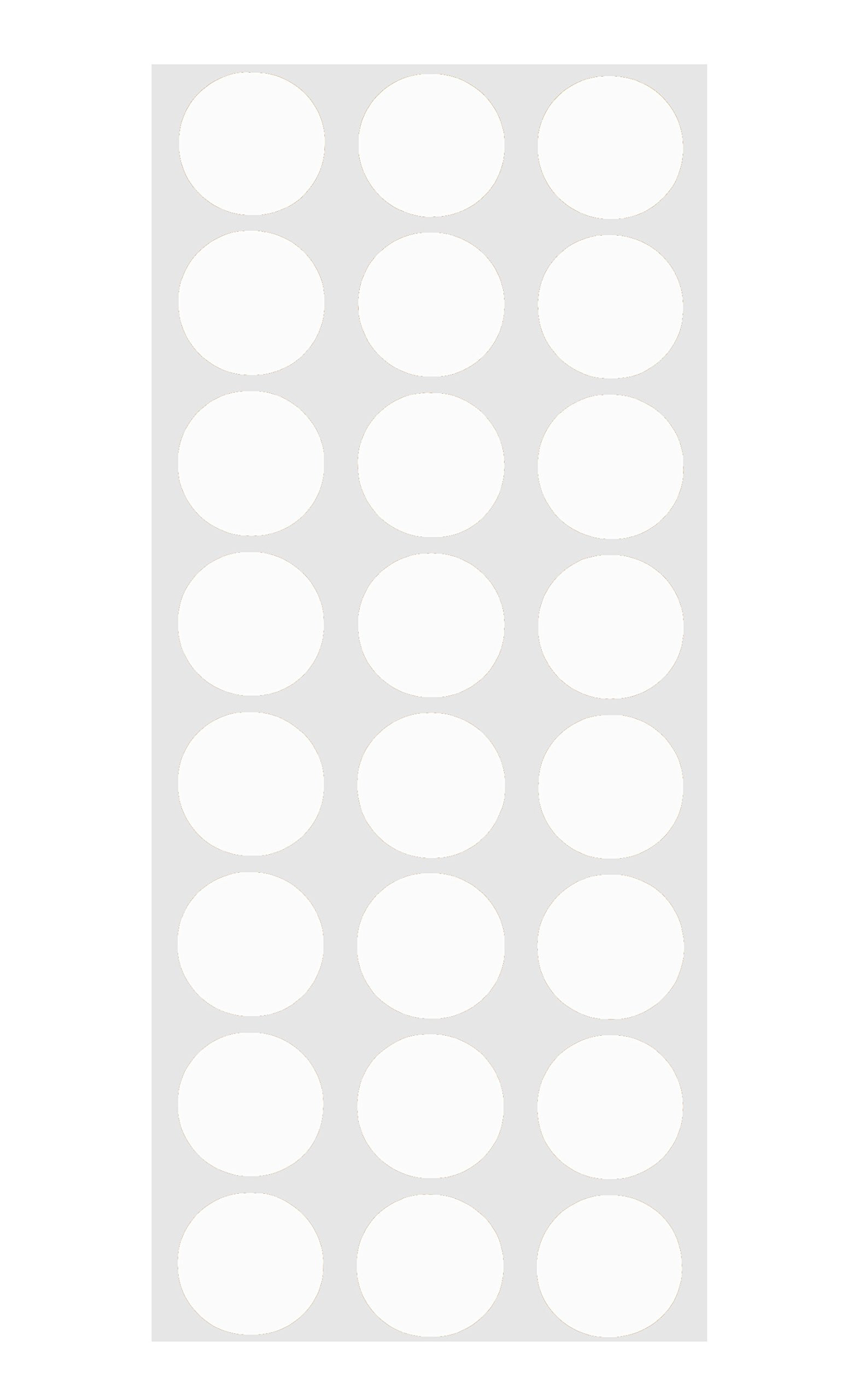 1200 Pack 24 Labels per Sheet ChromaLabel 1//2 Inch Round Permanent Color-Code Dot Stickers White