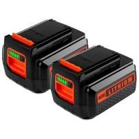 2Pack LBXR36 2.5 Lithium Battery for Black & Decker, 40V Max Battery for B&D LBX36 LBX2040 TC220 LHT2436 LSW36 LST136 LCC140 Series Cordless Power Tool for Black and Decker 40V 36V Batteries