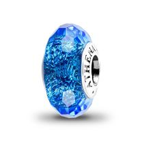 ATHENAIE Murano Glass 925 Sterling Silver Colorful Faceted Fascinating Iridescence Charms Bead for Bracelet