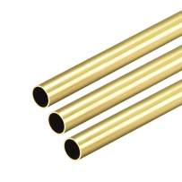 uxcell Brass Round Tube, 300mm Length 7.5mm OD 0.5mm Wall Thickness, Seamless Straight Pipe Tubing 3 Pcs