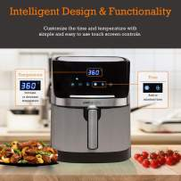 Simple Living Products Air Fryer, XL 7Qt Electric Hot Airfryer. Oil Less Cooker & Stainless Steel Finish.