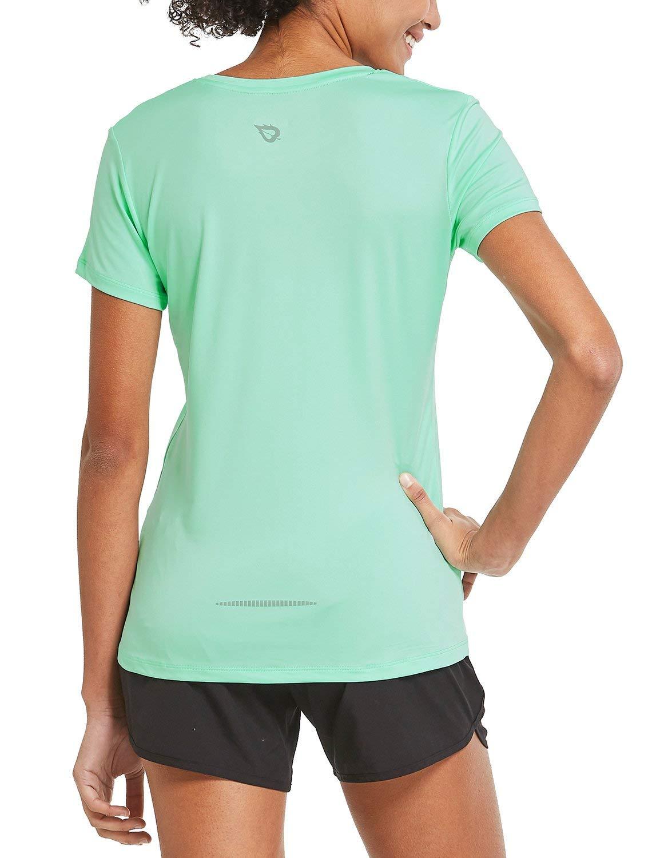 BALEAF Women's Athletic Short-Sleeved Running T-Shirts Lightweight Quick Dry Workout Training Yoga Crewneck Tops