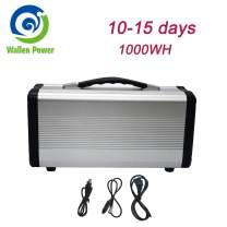 1000W Portable Power Station Solar Generator Camping Potable Generator, CPAP Battery Recharged by Solar Panel/Wall Outlet/Car, 110V AC Out/DC 12V /QC USB Ports for CPAP Camp Travel