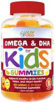 Complete DHA Gummies for Kids by Feel Great 365 (1 Pack), Omega 3 6 9 from Algae, Chia, and Coconut Oil, Supports Healthy Brain Function, Vision, and Heart Health in a Chewable Vegan Supplement