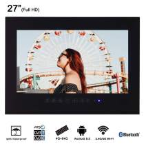 "Soulaca 27"" Frameless Smart Waterproof Bathroom LED TV T270FA-B"