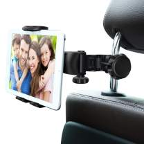 "Car Headrest Mount, Ansteker Adjustable Car Tablet Mount Holder for iPad Pro/Air/Mini,Tablets, Nintendo Switch,Kindle Fire HD,iPhone,Smartphones Headrest Holder Stand for 4""-11"" Wide with 360°Rotation"