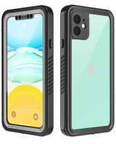 Temdan Designed for iPhone 11 Case,360 Full-Body Built-in Screen Protector Real Heavy Duty Rugged Shockproof Dustproof Cases for iPhone 11 6.1 inch 2019 Release-(Black/Clear)