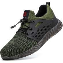 BAOLESEM Men Women Work Steel Toe Shoes, Breathable Safety Indestructible Shoes Lightweight Industrial & Construction Shoe
