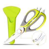 VOSIN Kitchen Scissors Kitchen Poultry Shears Multifunctional 8 in 1, Household Heavy Duty 3Cr13 Stainless Steel with Magnetic Holder Multi-purpose for Chicken,Fish,Vegetables,BBQ