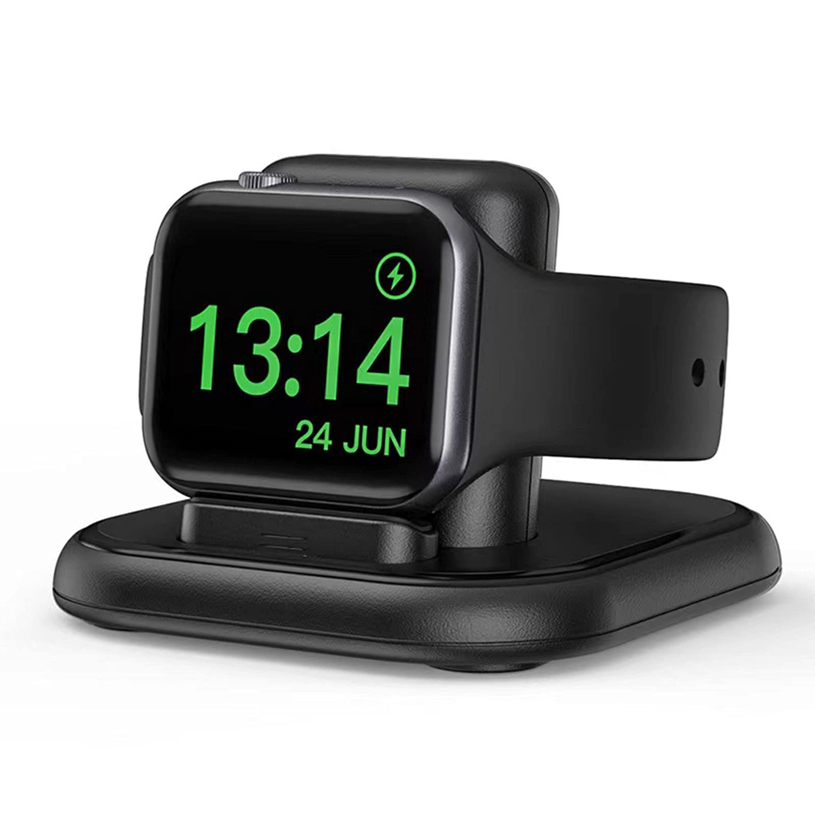 LUKKAHH Charger Stand for Apple Watch,Magnetic Wireless Charging Station,Compatible with iWatch Apple Watch SE Series 6/5/4/3/2/1/44mm/42mm/40mm/38mm,Night Stand Charging Dock - Black